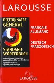 Dictionnaire general francais-allemand allemand-francais - Intérieur - Format classique