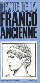 Revue De La Franco Ancienne N°188 Special Langues Anciennes - Couverture - Format classique