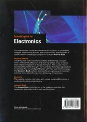 Oxford English For Electronics Eleve - 4ème de couverture - Format classique