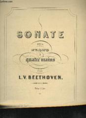 Sonate Pour Piano A 4 Mains - Op.6. - Couverture - Format classique