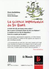La science improbable du Dr Bart - 4ème de couverture - Format classique