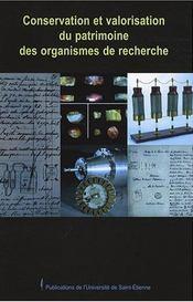 Conservation et valorisation du patrimoine des organismes de recherche fredoc 20 - Intérieur - Format classique