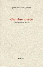 Chambre Sourde - Couverture - Format classique