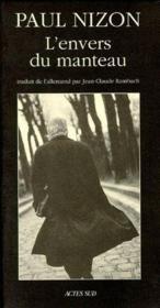 L'Envers Du Manteau - Journal D'Atelier - Couverture - Format classique
