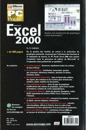 Pc Poche Excel 2000 - 4ème de couverture - Format classique
