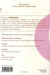 En-Je Lacanien T.7 ; L'Impossible - 4ème de couverture - Format classique