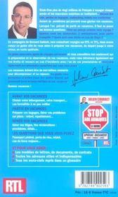 Stop aux arnaques - special vacances - 4ème de couverture - Format classique