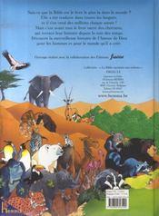 LA BIBLE RACONTEE AUX ENFANTS ; la bible racontée aux enfants - 4ème de couverture - Format classique