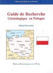 Guide de recherche genealogique en pologne - Couverture - Format classique
