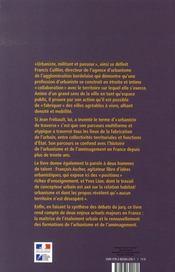 L'intimité avec un territoire ; francis cuillier, grand prix de l'urbanisme 2006 - 4ème de couverture - Format classique