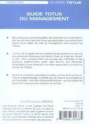 Guide totus du management - 4ème de couverture - Format classique