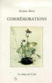 Commemorations - Couverture - Format classique
