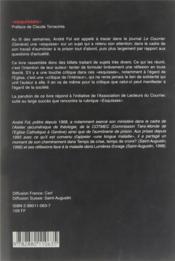 Esquisses - 4ème de couverture - Format classique