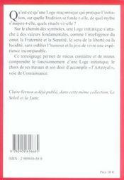 Les symboles maçonniques T.14 ; loge maconnique, loge initiatique ? - 4ème de couverture - Format classique