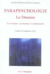 Parapsychologie le dossier - Intérieur - Format classique