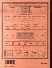 Cahier De Recitation N 2 - 4ème de couverture - Format classique
