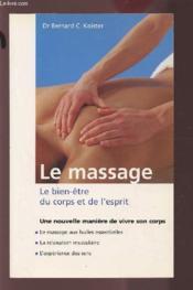 Massage : Bien-Etre Du Corps Et De L'Esprit (Livre+video) - Couverture - Format classique