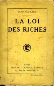 La Loi Des Riches. - Couverture - Format classique