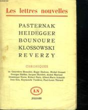 Pasternak. Heidegger. Bounoure. Klossowski. Reverzy. - Couverture - Format classique