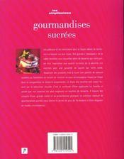 Gourmandises Sucrees - 4ème de couverture - Format classique
