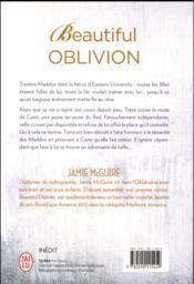 Beautiful oblivion ; et si le droit chemin n'était pas toujours le bon ? - 4ème de couverture - Format classique