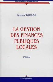 La Gestion Des Finances Publiques Locales - Couverture - Format classique