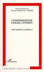 Consommateur, Usager, Citoyen : Quel Modele De Socialisation - Intérieur - Format classique