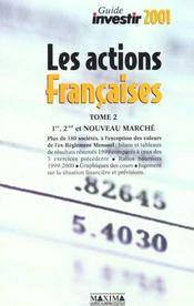 Guide Investir 2001 Des Actions Francaises T.2 - Intérieur - Format classique
