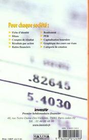 Guide Investir 2001 Des Actions Francaises T.2 - 4ème de couverture - Format classique