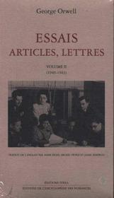 Essais articles, lettres t.2 - Couverture - Format classique