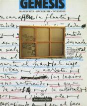 Genesis N.15 ; Manuscrits, Recherche, Invention - Couverture - Format classique