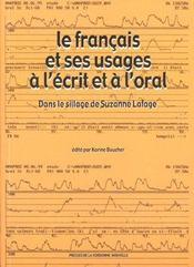 Le français et ses usages à l'écrit et à l'oral ; dans les sillage de Suzanne Lafage - Intérieur - Format classique