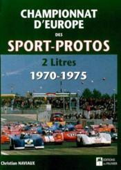 Championnat d'europe des sport-protos - Couverture - Format classique