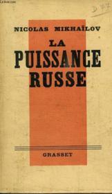 La Puissance Russe. - Couverture - Format classique