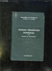 Technique Therapeutique Chirurgicale. - Couverture - Format classique