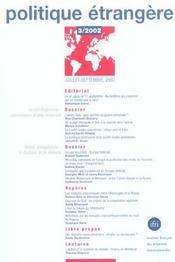 Les cahiers de l'ifri t.3 ; politique etrangere - Intérieur - Format classique
