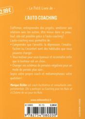 L'auto-coaching - 4ème de couverture - Format classique