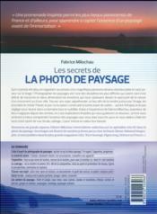 Les secrets de la photo de paysage ; approche ; composition ; exposition - 4ème de couverture - Format classique