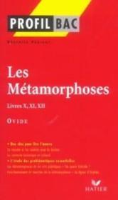 Les métaphores, livres X, XI, XII d'Ovide - Couverture - Format classique