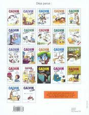Calvin et Hobbes T.17 ; la flemme du dimanche soir - 4ème de couverture - Format classique