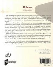 Rohmer et les autres - 4ème de couverture - Format classique