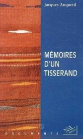 Memoires d'un tisserand - Couverture - Format classique
