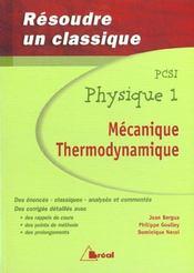 Resoudre classique phys. pcsi 1 - Intérieur - Format classique