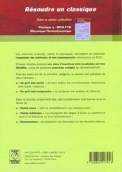 Resoudre classique phys. pcsi 1 - 4ème de couverture - Format classique