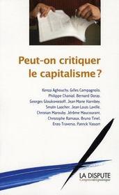 Peut-On Critiquer Le Capitalisme ? - Intérieur - Format classique