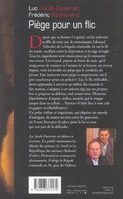 Piège pour un flic - 4ème de couverture - Format classique