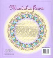 Mandalas fleurs (édition 2005) - 4ème de couverture - Format classique