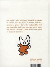 Lapin, mon lapin - 4ème de couverture - Format classique