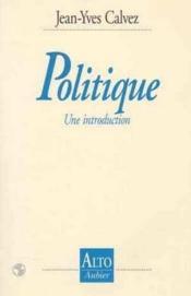 Politique, Une Introduction - Couverture - Format classique