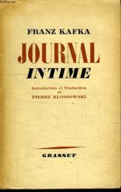 Journal Intime. - Couverture - Format classique
